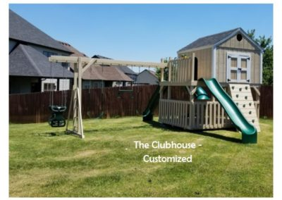 The Clubhouse custom kids playset delivered