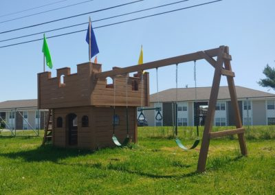 The Fortress castle playset custom designed playset delivered near me
