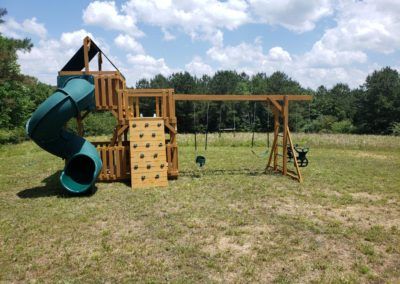 Custom designed kids treehouse playsets delivered